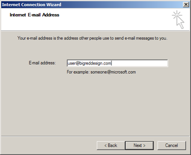 Outlook Express: Email address