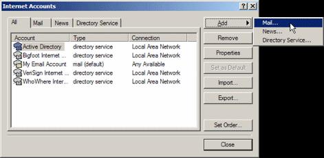 Outlook Express: Internet Accounts