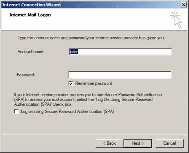 Outlook Express: Logon