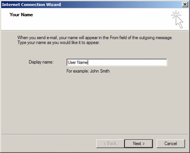 Outlook Express: Display name