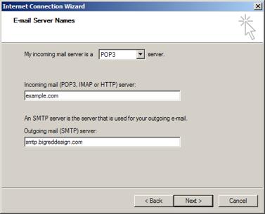 Outlook Express: Server Names