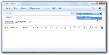 Windows Live Mail: New Message