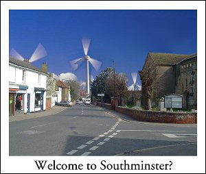 SIEGE's inaccurate photo depicting wind turbines towering over Southminster
